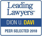 Dion Davi Leading Lawyers Peer Selected 2018